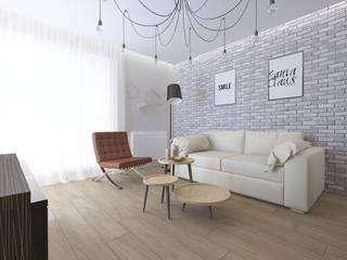 Mieszkanie na wynajem Nowoczesny salon od ZAWICKA-ID Projektowanie wnętrz Nowoczesny