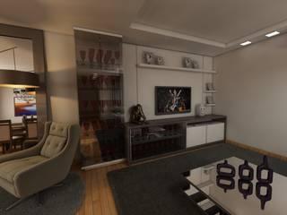 Sala de Estar : Salas de estar  por Débora Pagani Arquitetura de Interiores,Moderno