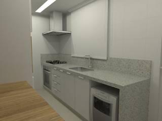 Apartamento   VD: Cozinhas  por ESSA Arquitetura