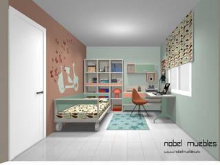 Dormitorios infantiles de estilo  por Nobel Vinte