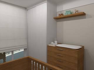 Apartamento   JR: Quarto infantil  por ESSA Arquitetura