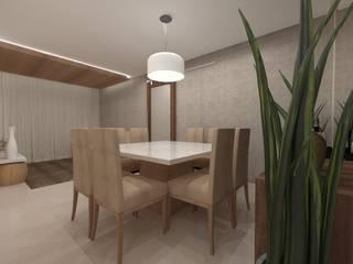 Apartamento   LS: Salas de estar  por ESSA Arquitetura