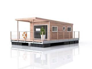 3D de la cabane sur l'eau AquaPrezzo: Maisons de style  par Aquashell