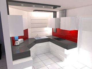 ROJAS Arquitectura Diferente KitchenCabinets & shelves White