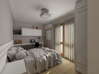 Apartamento bairro São João Quartos modernos por Débora Pagani Arquitetura de Interiores Moderno
