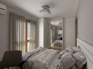 Apartamento bairro São João: Quartos  por Débora Pagani Arquitetura de Interiores,Moderno