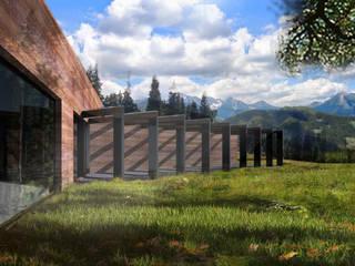 Dom w górach Nowoczesne domy od KONTRAST STUDIO Nowoczesny