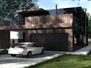Dom pod Krakowem: styl nowoczesne, w kategorii Domy zaprojektowany przez KONTRAST STUDIO