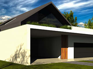 Dom w Limanowej: styl nowoczesne, w kategorii Domy zaprojektowany przez KONTRAST STUDIO