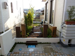 リビング前の楽しい空間 我が家の庭 の パサニアガーデン うさぎの庭