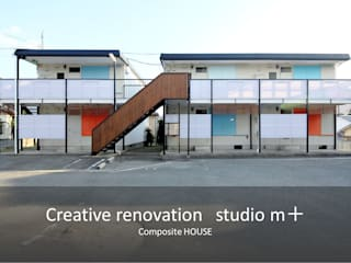 studio m+ by masato fujii Casas de estilo escandinavo Azul