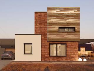 Dom Kostka: styl , w kategorii  zaprojektowany przez GRYMIN - TYBULCZUK ARCHITEKCI