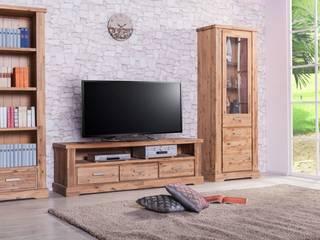 TV-Unterschrank Colorado Akazie massiv Holz lowboard tv board Fernsehtisch:   von Moebelkultura.DE
