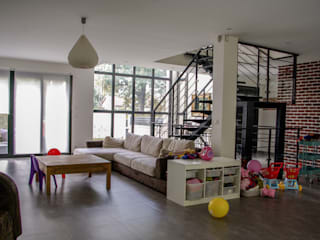 Daniel architectes Minimalist living room