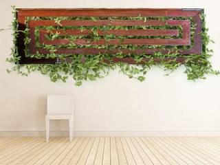 Green & Metal: Paisajismo de interiores de estilo  de Landscapers