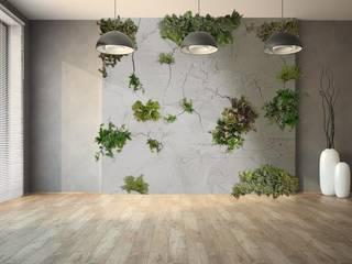 Green & Grunge de Landscapers Ecléctico Hormigón