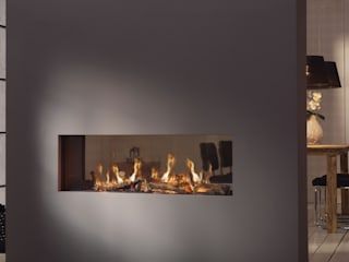 Gaskamin Moderne Wohnzimmer von wohnfeuer Modern