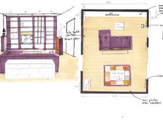Rénovation appartement Nantes par de l'interieur Moderne