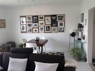 Rénovation appartement Nantes Salon moderne par de l'interieur Moderne