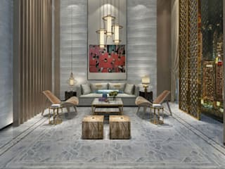 Water Jet Mosaics in Various China Projects Modern living room by ShellShock Designs Modern