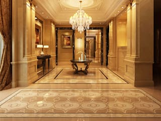 Water Jet Mosaics in Various China Projects Ingresso, Corridoio & Scale in stile moderno di ShellShock Designs Moderno