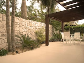 Aconchego do Lar: Terraços  por Gisele Ribeiro Arquitetura & Decoração