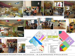 Kindergarten School de eSpaces Architects Moderno