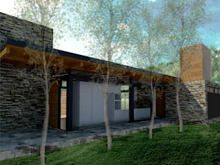 Casa de piedra: Casas de estilo  por Mauricio Morra Arquitectos,Moderno
