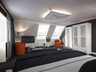 Exemples de réalisations Chambre moderne par Sébastien Halimi architecte d'intérieur Moderne