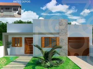 Projeto Casas modernas por Bruna Salbego - arquitetura e interiores Moderno