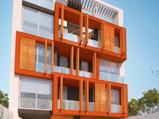 Edificio Irigoyen: Casas de estilo  por Mauricio Morra Arquitectos,Moderno