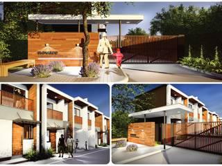 Projeto Casas modernas por QUADRO Moderno