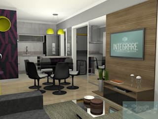 Study/office by INTEGRARE - Arquitetura & Engenharia, Modern