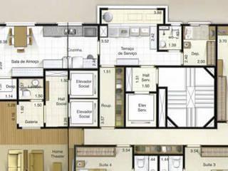Living room by INTEGRARE - Arquitetura & Engenharia, Modern