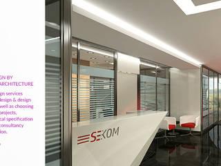 Defne Anter Mimarlik – Sekom Ofisi İç Tasarım:  tarz Ofis Alanları