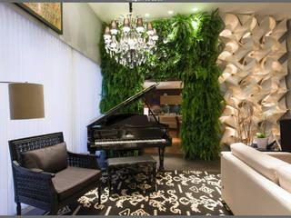 Meire Lemes Designer de Interiores 现代客厅設計點子、靈感 & 圖片