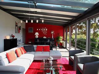 veranda Salon moderne par MDR createur d'espace Moderne
