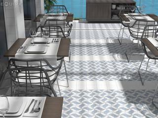 Hiên, sân thượng theo Equipe Ceramicas, Địa Trung Hải