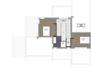 Villa toit terrasse contemporaine à étage de 140 m2 :  de style  par Pierre Glory Construction