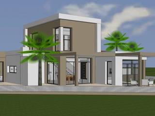 Villa toit terrasse contemporaine à étage de 140 m2 par Pierre Glory