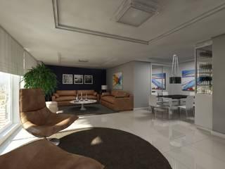 Sala de estar: Salas de estar  por Débora Pagani Arquitetura de Interiores,Moderno