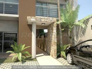 RENDERS Edificio de viviendas en Moron:  de estilo  por RENDERIZAR ARQUITECTURA