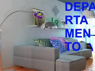 DptO !: Livings de estilo  por Estudio de Arquitectura & Diseño Victoria Moreno
