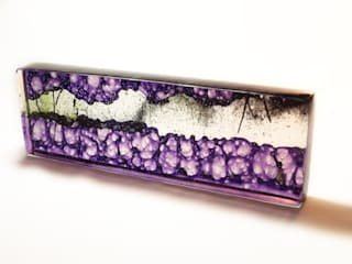 Ana Maria Nava Glass ArtworkSculptures Glass Purple/Violet