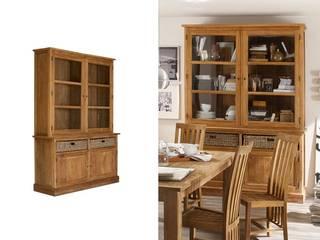 Buffet Cordoba 2Glastüren+2Holztür/2Körbe Teak  massiv Holz Möbel :   von Moebelkultura.DE