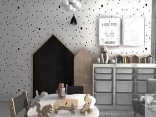 Pokoik trzyletniej Liwii Skandynawski pokój dziecięcy od Designbox Marta Bednarska-Małek Skandynawski