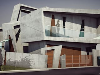 Offcentered Architects Modern houses Concrete Grey