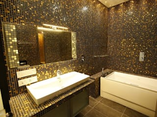 Residential interiors for Mr.Siraj at Chennai Offcentered Architects Minimalist bathroom