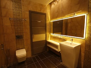 Residential interiors for Mr.Siraj at Chennai Modern bathroom by Offcentered Architects Modern