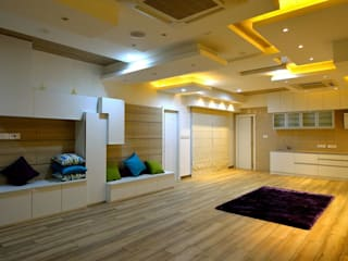 Residential interiors for Mr.Seelan at Chennai Offcentered Architects Minimalist living room